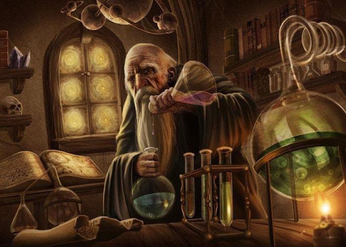 Эксперименты алхимика по созданию магического вещества