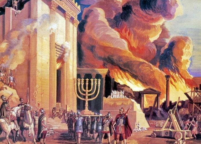 Полыхающий в Иерусалиме Храм царя Соломона