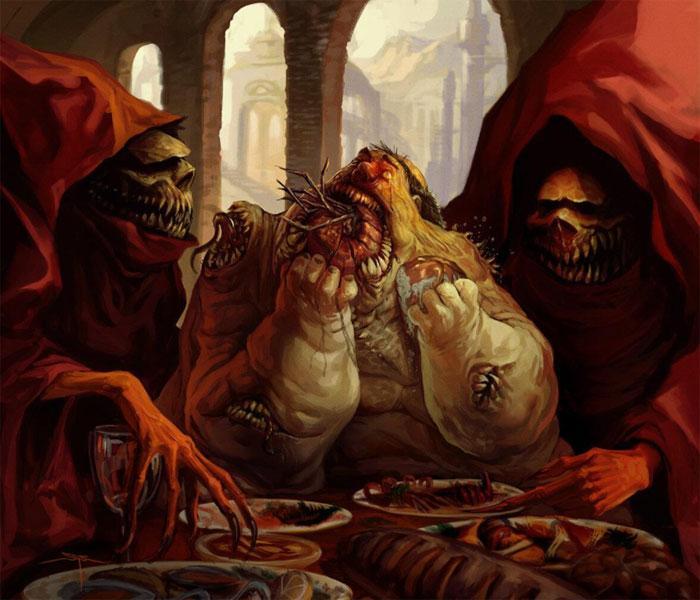 Чревоугодие - один из 7 смертных грехов