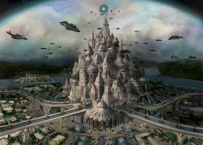 Существует теория, что атланты общались с инопланетянами, благодаря которым и достигли такого высокого уровня развития