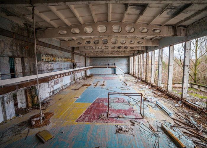 Спортзал в Чернобыле
