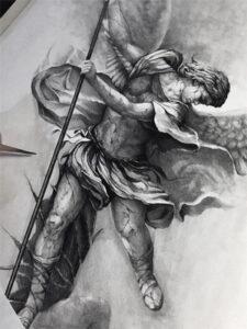 эскиз архангела