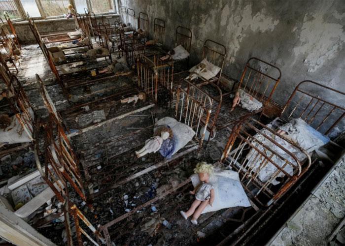Одна из комнат в Припяти
