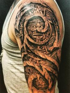 татуировка майя рука