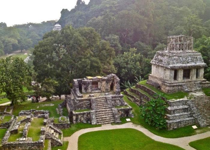 Древний город майя в Мексике