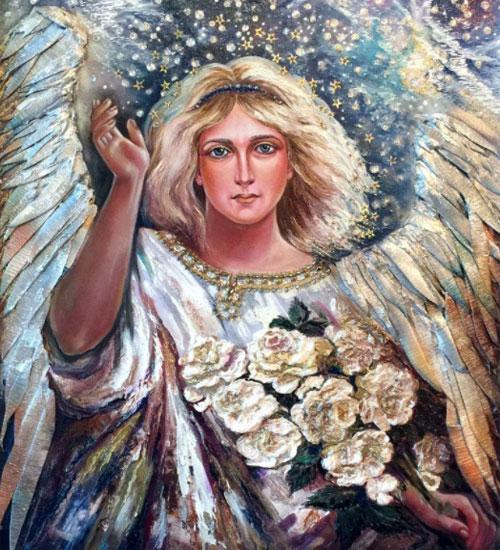 Небесный посланник дарит людям благословение Бога, а также одаривает за праведную и чистую жизнь