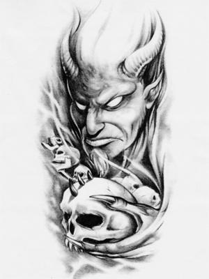 Эскиз с демоном