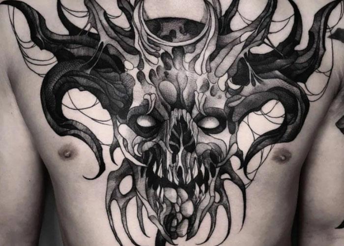 Нательный рисунок с демоном
