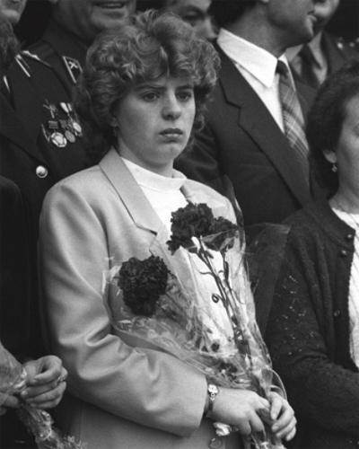 Супруга Василия Игнатенко на похоронах