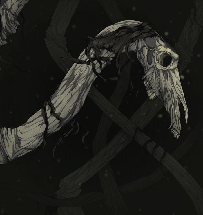 Рисунок Long Horse одного из поклонников Тревора Хендерсона