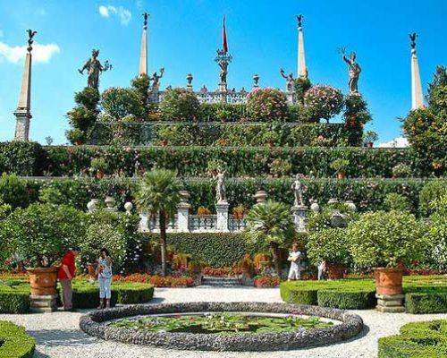 Сады на острове Изола-Белла.